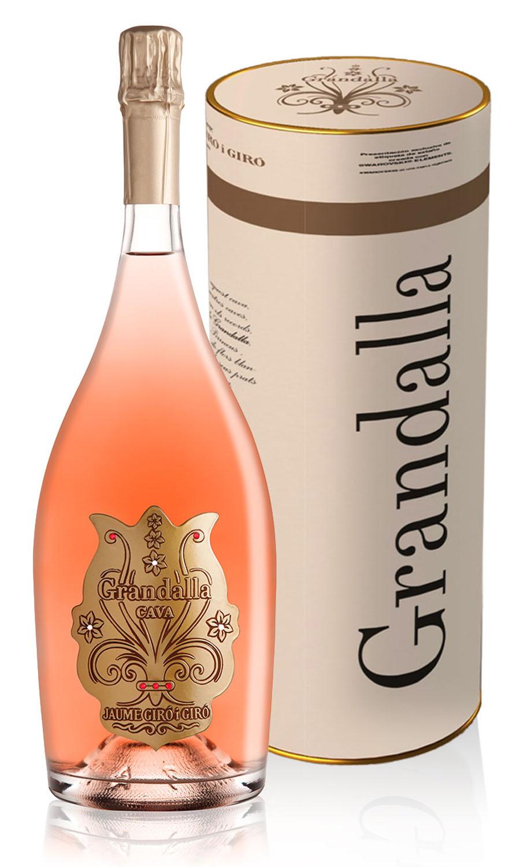 MAGNUM GRANDALLA de LUXE Swarovski Elements Rosado Pinot Noir Reserva Brut Agricultura Ecològica, 1.5L